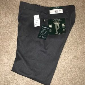 "RL Men's Classic Fit ""UltraFlex"" Grey Dress Pants"